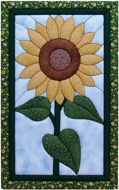 Design: Sunflower Dimensions: 12 inches wide x 19 inches long Materials: Foam board Make a unique 'quilted' wall hangings Require no special tools, sewing or gluing Each kit comes with pre-cut foam bo Patchwork Quilting, Applique Quilts, Small Quilts, Mini Quilts, Quilt Kits, Quilt Blocks, Quilting Projects, Quilting Designs, Fabric Crafts