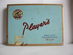 """PLAYERS"" Navy Cut cigarette tin"