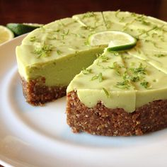 Key Lime Pie - made with Avocados! Amazingly creamy! Gluten free, Vegan, Paleo | Pretty Pies