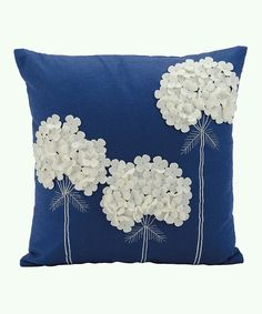 Mina Victory Felt Three White Flowers Navy Throw Pillow - Nourison Colorful, hand cut wool felt pillows are skillfully crafted and sewn to create a joyful collection to mix and match with all other Mina Victory pieces. Features: Fabric: Dimensions: x x Sewing Pillows, Diy Pillows, Decorative Pillows, Cushions, Throw Pillows, Accent Pillows, Blue Pillows, Cushion Covers, Pillow Covers
