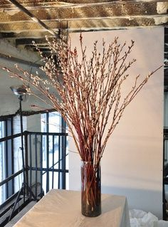 pussy willow centerpieces…ladies what do you think?