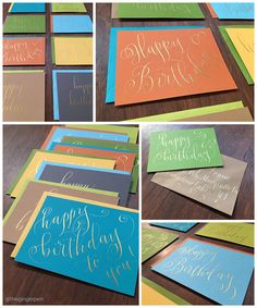 A hand-lettering design studio based in Oakland, California. Lettering Design, Hand Lettering, Gold Ink, Calligraphy, Studio, Paper, Lettering, Handwriting, Studios