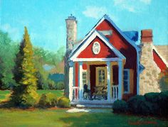 Afternoon The Gameskeeper Cottage Painting  - Afternoon The Gameskeeper Cottage Fine Art Print