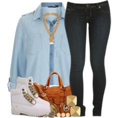 """""""those tims tho... *-*"""" by livelifefreelyy on Polyvore"""