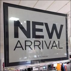 New Arrival Sign Magnetic Hangrail Mount