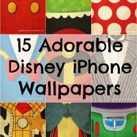 15 Disney Character designed iPhone Wallpapers.