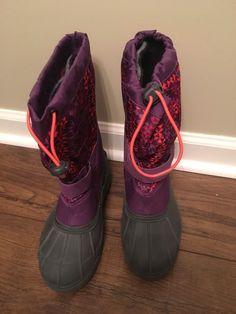 watch 07243 1457c Columbia Youth Powderbug Plus II Print Boots Dark Purple Size 6 NEW   fashion  clothing