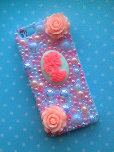 Iphone 5/5s Lolita Decoden White Phone Case Handmade DIY Can Be Made For ANY Phone.Cute. Cameo