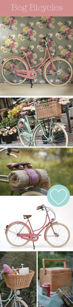 hello pink bike & floral vintage wallpaper, can you come live with me?