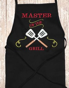 Master King Of The Grill Apron by momof5hs63 on Etsy
