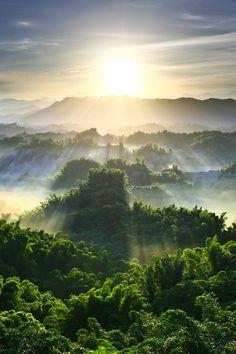 Sunrise over Green Terrain