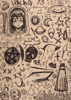 Indie Drawings, Dark Art Drawings, Art Drawings Sketches Simple, Cool Drawings, Arte Grunge, Grunge Art, Trash Art, Art Diary, Indie Art