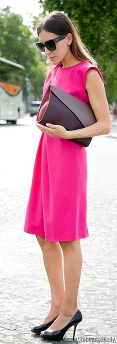 Hot Pink Street Style