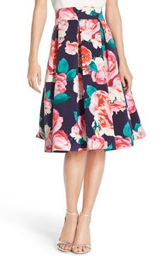 Eliza J Floral Print Faille Skirt available at #Nordstrom. An alternative look for special occasions.
