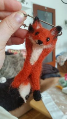 Fox, Animals, Felt Fox, Brooch, Felting, Basteln, Animales, Animaux, Foxes