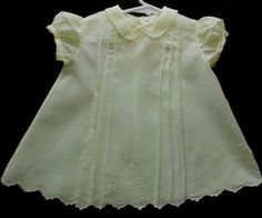 Stunning Vintage Yellow Batiste Baby Dress fron the 50's