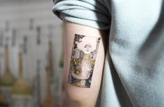 Klimt's Woman in Gold tattoo by Hongam