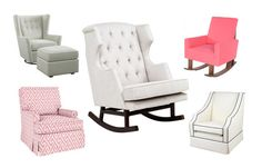 On Pop Sugar Moms: 8 Stylish Rockers and Gliders That Are Also Comfortable featuring Nursery Works Empire rocker! <3