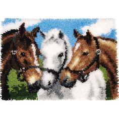 Horses Latch Hook Kit - Herrschners