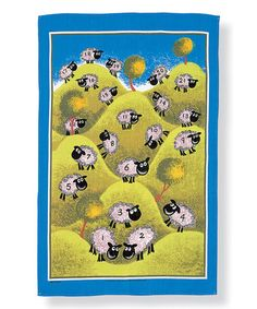 Look at this #zulilyfind! Counting Sheep Linen Tea Towel #zulilyfinds