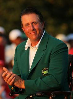 Lefty at the Green Jacket ceremony
