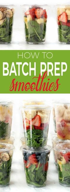 Simple tips and tricks on how to batch prep grab n go smoothies quickly. Make them in advance, and enjoy them for the week, or even the whole month!
