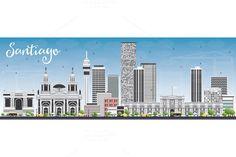 #Santiago #Chile #Skyline by Igor Sorokin on @creativemarket