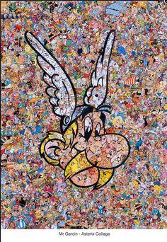 """Astérix """"collé"""" par Monsieur Garcin - http://www.ligneclaire.info/asterix-garcin-21909.html"""