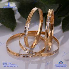 Plain Gold Bangles jewellery for Women by jewelegance. ✔ Certified Hallmark Premium Gold Jewellery At Best Price Plain Gold Bangles, Gold Bangles For Women, Solid Gold Bangle, Gold Bangles Design, Gold Earrings Designs, Gold Jewellery Design, Gold Jewelry, Gold Necklaces, Necklace Designs