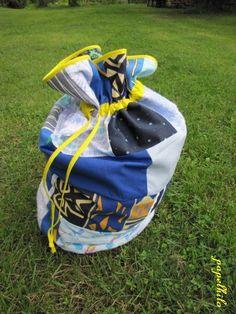 papelhilo : les créations de l'araignée: sac polochon et son tuto à transformer en sac à magnésie