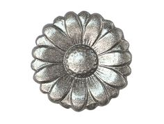 2 Dyeable Metal Buttons Silver Morning Flower 7/8 by ButtonJones, $3.00