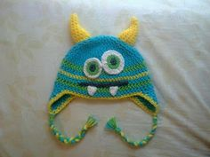 The Knitless Knitter Crochets: Crochet Monster Hat : Free Eyes and Teeth Patterns