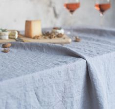 The advantage of our finely woven Smooth Linen is its extra wide width, so it makes a flowing, full tablecloth for virtually any size table.