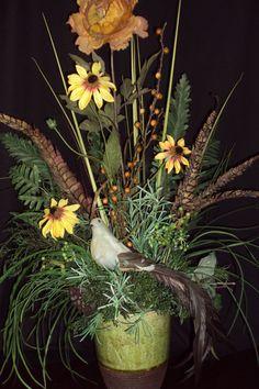 Tuscan Artificial Silk Floral Arrangement