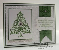 Love this layout - would look awesome with Snow Swirled Stamp set as I do not have the Bright Hopes!
