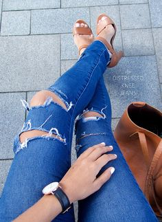 How to distress your denim jeans by apairandaspare, via Flickr