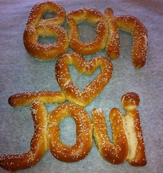 You Give Love a Bad Name, Wanted Dead or Alive...Look at this adorable custom pretzel some dedicated Bon Jovi fans are tailgating with to prepare for tonight's concert! #pretzels #livingston #bonjovi #pretzelfactory