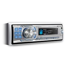 ALPINE CDA-9886M - Marine CD receiver. Music While You Cruise. CDA-9886M – A Classic Multi talent is Going Aboard Alpine CDA-9886M is a robust and easy to manage head unit allowing connection to a wide array of digital media sources and formats, including Bluetooth connectivity, USB mass storage devices and CD changers. It delivers premium sound quality combined with modern convenience and control.