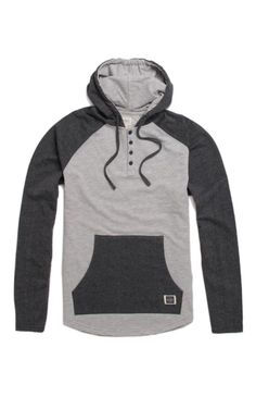 A PacSun.com Online Exclusive! PacSun presents the Ambiguous Ellis Pullover Hoodie. This hoodie comes with some style thanks to a four button henley neck.	Two tone hoodie	Ambiguous logo on front pocket	Matching hood and drawstrings	Long sleeves	Machine washable	60% cotton, 40% polyester	Imported