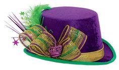 Mardi Gras feathered hat