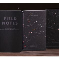 "Field Notes Memo Books // The ""Night Sky"" Edition --"