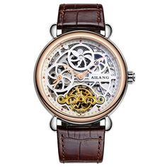 US $53.00 - AILANG Skeleton Tourbillon Watch Top luxury brand Men watch Business Wrist watch Mens gift Tourbillon Automatic Mechanical Watch