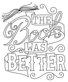 Booked Up - The Book was Better | Urban Threads: Unique and Awesome Embroidery Designs