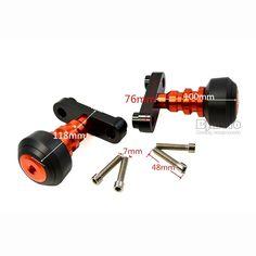 2 Pcs Moto Orange Left and Right Frame Slider Crash Protector For KTM DUKE 125/200/390