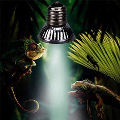 New Uv LED Lamp Reptile Tortoise Heating Lamp Full Spectrum Sunlamps Basking Pet Brooder Heat Light Lamp Bulb Sun Lamp, Lamp Bulb, Lamp Light, Light Bulb, Reptiles, Amphibians, Full Spectrum Light, Diy Generator, Novelty Lighting