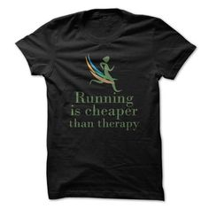 #Funny Running Cheaper Than Therapy Funny Shirt T-shirt & hoodies See more tshirt here: http://tshirtsport.com/