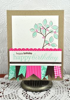 This look can be recreated by using Spellbinders Nested Pennants and Big Scalloped Border Grand! Original Idea By: Dawn Mcvey
