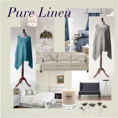 Pure Linen by mdrozd on Polyvore featuring moda, Baxter of California and modern