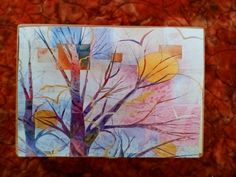 Art Abstract Autumn Scene Tree Branches Cigar by AntiquesandVaria