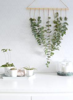 DIY eucalyptus hanger for Christmas
